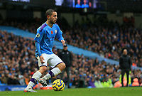 2nd November 2019; Etihad Stadium, Manchester, Lancashire, England; English Premier League Football, Manchester City versus Southampton; Bernardo Silva of Manchester City controls the ball and looks up for a team mate - Strictly Editorial Use Only. No use with unauthorized audio, video, data, fixture lists, club/league logos or 'live' services. Online in-match use limited to 120 images, no video emulation. No use in betting, games or single club/league/player publications