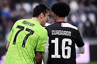 Gianluigi Buffon and Juan Cuadrado of Juventus <br /> Juventus FC - US Sassuolo 2-2 <br /> Photo Federico Tardito / Insidefoto