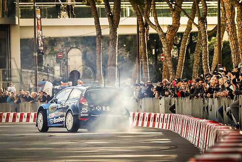 21.01.2016. Monte Carlo, Monaco. The Monte Carlo Rally 2016. The presentation of the cars and drivers in Monaco.  Mads Ostberg (NOR) and Ola Floene (NOR)