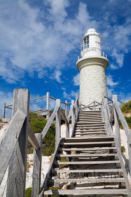 Bathurst Lighthouse on Rottnest Island, Western Australia, AUSTRALIA.