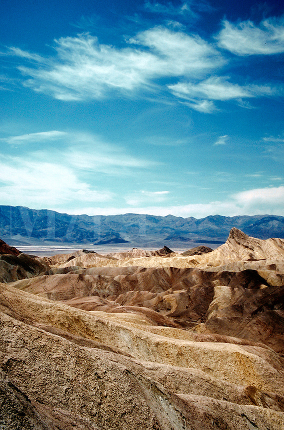 Desert landscape of Death Valley National Monument. Death Valley, California.