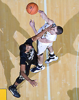 David Kravish of California shoots the ball during the game against Colorado at Haas Pavilion in Berkeley, California on January 12th, 2012.   California defeated Colorado, 57-50.