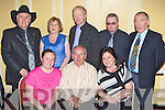 Some of the many stars of Irish Country Music who performed at the Dermort Moriarty tribute Country Music concerts in the INEC Killarney front row l-r: Sinead, Dermot Moriarty, Louise Morrissey. Back row: TR Dallas, Kathleen Moriarty, Denis Allen, Joe King and Weeshie Fogarty ..