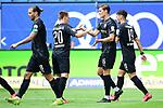 0:2 Tor, Jubel, v.l. Dennis Diekmeier, Emanuel Taffertshofer, Torschuetze Kevin Behrens, Leart Paqarada (Sandhausen)<br />Hamburg, 28.06.2020, Fussball 2. Bundesliga, Hamburger SV - SV Sandhausen<br />Foto: VWitters/Witters/Pool//via nordphoto<br /> DFL REGULATIONS PROHIBIT ANY USE OF PHOTOGRAPHS AS IMAGE SEQUENCES AND OR QUASI VIDEO<br />EDITORIAL USE ONLY<br />NATIONAL AND INTERNATIONAL NEWS AGENCIES OUT
