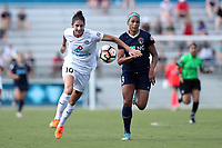 Cary, North Carolina  - Saturday June 03, 2017: Yael Averbuch and Lynn Williams during a regular season National Women's Soccer League (NWSL) match between the North Carolina Courage and the FC Kansas City at Sahlen's Stadium at WakeMed Soccer Park. The Courage won the game 2-0.
