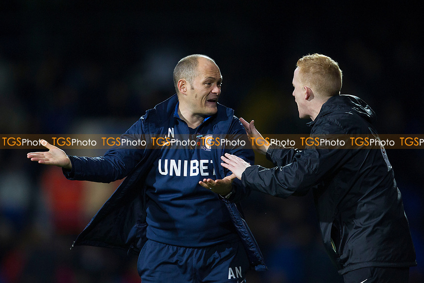 Alex Neil, Manager of Preston North End complains to the fourth official Alan Young during Ipswich Town vs Preston North End, Sky Bet EFL Championship Football at Portman Road on 3rd November 2018