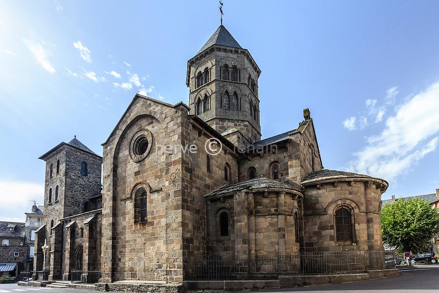 France, Cantal (15), Mauriac, basilique Notre-Dame-des-Miracles (XI - XII siècle) // France, Cantal, Mauriac, Notre Dame des Miracles  church
