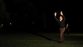 United States President Barack Obama waves at his family as he walks on the South Lawn of the White House upon his return to Washington, DC on Friday, June 4, 2010 after a one day trip to Louisiana..Credit: Olivier Douliery / Pool via CNP