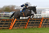 It's for Alan ridden by Page Fuller clears the last in The Winner of The Racing TV Profits returned to Racing'National Hunt' Novices' Hurdle during Horse Racing at Wincanton Racecourse on 5th December 2019