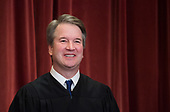 Associate Justice of the Supreme Court Brett Kavanaugh poses during the official Supreme Court group portrait at the Supreme Court on November 30, 2018 in Washington, <br /> DC.<br /> Credit: Kevin Dietsch / Pool via CNP