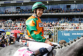 14th September 2017, Doncaster Racecourse, Doncaster, England; The William Hill St Ledger Festival, DFS Ladies Day; Buccaneers Vault ridden by Georgina Cox after they win the DFS Silk Series Lady's Riders Handicap Stakes