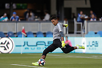 SAN JOSE, CA - AUGUST 03: Daniel Vega  prior to a Major League Soccer (MLS) match between the San Jose Earthquakes and the Columbus Crew on August 03, 2019 at Avaya Stadium in San Jose, California.