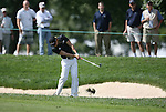 6 September 2008:   Camilo Villegas hits out of the rough on the first hole in the second round of play at the BMW Golf Championship at Bellerive Country Club in Town & Country, Missouri, a suburb of St. Louis, Missouri.  The BMW Championship is the third event on the PGA's Fed Ex Tour. Villegas, of Medellin Colombia (South America) was the leader after the conclusion of round one with a five-under par score.