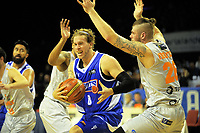 Joshua Duinker in action during the national basketball league match between Wellington Saints and Taylor Hawks at TSB Bank Arena in Wellington, New Zealand on Friday, 17 March 2017. Photo: Dave Lintott / lintottphoto.co.nz