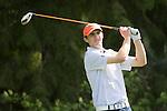 April 14, 2014; Bremerton, WA, USA; Pepperdine Waves golfer Nick Thomas during the WCC Golf Championships at Gold Mountain Golf Club.