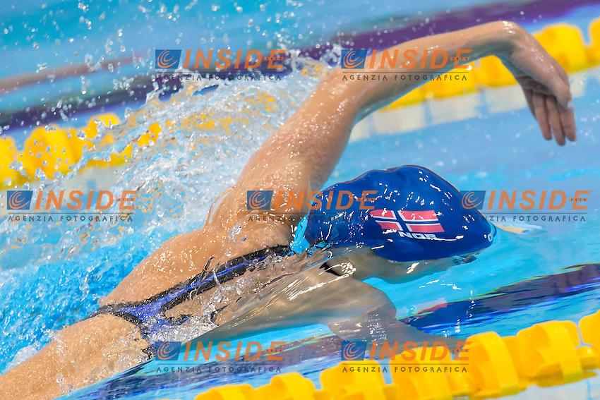 Marte LOEVBERG NOR <br /> 100m Freestyle Women preliminary <br /> London, Queen Elizabeth II Olympic Park Pool <br /> LEN 2016 European Aquatics Elite Championships <br /> Swimming<br /> Day 09 17-05-2016<br /> Photo Andrea Staccioli/Deepbluemedia/Insidefoto