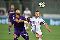 Marco Benassi Fiorentina, Jacopo Sala Sampdoria <br /> Firenze 27-08-2017 Stadio Artemio Franchi Calcio Serie A Fiorentina - Sampdoria Foto Andrea Staccioli / Insidefoto