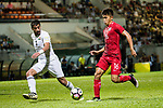 Tan Chun Lok of Hong Kong (R) during the International Friendly match between Hong Kong and Jordan at Mongkok Stadium on June 7, 2017 in Hong Kong, China. Photo by Cris Wong / Power Sport Images