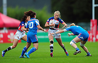 Charlotte Holland of Great Britain  in action. FISU World University Championship Rugby Sevens Women's 5th/6th place match between Great Britain and Italy on July 9, 2016 at the Swansea University International Sports Village in Swansea, Wales. Photo by: Patrick Khachfe / Onside Images
