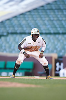 Taylor Trammell (5) of Mt. Paran Christian High School in Powder Springs, Georgia during the Under Armour All-American Game on August 15, 2015 at Wrigley Field in Chicago, Illinois. (Mike Janes/Four Seam Images)