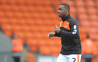 Blackpool's Donervon Daniels during the pre-match warm-up <br /> <br /> Photographer Kevin Barnes/CameraSport<br /> <br /> The EFL Sky Bet League One - Blackpool v Oxford United - Saturday 23rd February 2019 - Bloomfield Road - Blackpool<br /> <br /> World Copyright © 2019 CameraSport. All rights reserved. 43 Linden Ave. Countesthorpe. Leicester. England. LE8 5PG - Tel: +44 (0) 116 277 4147 - admin@camerasport.com - www.camerasport.com