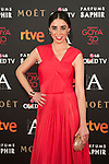Candela Serrat attends 30th Goya Awards red carpet in Madrid, Spain. February 06, 2016. (ALTERPHOTOS/Victor Blanco)