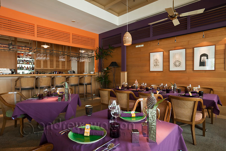 Tamarind Restaurant at the Reef Hotel Casino.  Cairns, Queensland, Australia