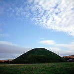 Silbury Hill ancient monument, Wiltshire, England