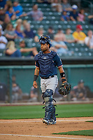 Alberto Rosario (6) of the Reno Aces during the game against the Salt Lake Bees at Smith's Ballpark on June 27, 2019 in Salt Lake City, Utah. The Aces defeated the Bees 10-6. (Stephen Smith/Four Seam Images)