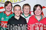 PIONEER QUIZ: The Louisburg quiz team all the way from Mayo competing in the All Ireland Finals Pioneer Quiz at  Mercy Mounthawk School on Saturday afternoon l:r Lorraine Gibbons, Padraic O'Malley, Joesph Gibbons and Aisling Staunton..   Copyright Kerry's Eye 2008