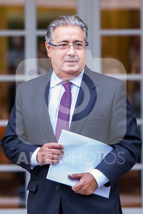 Spanish Minister of the Interior Juan Ignacio Zoido during the prensentation of Rajoy's New Government at Moncloa Palace in  Madrid, Spain. November 04, 2016. (ALTERPHOTOS/Rodrigo Jimenez)