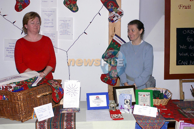 Sandra Moore and Marian Talbot displaying there products at the Xmas fair in Sonairte..Picture Fran Caffrey Newsfile.
