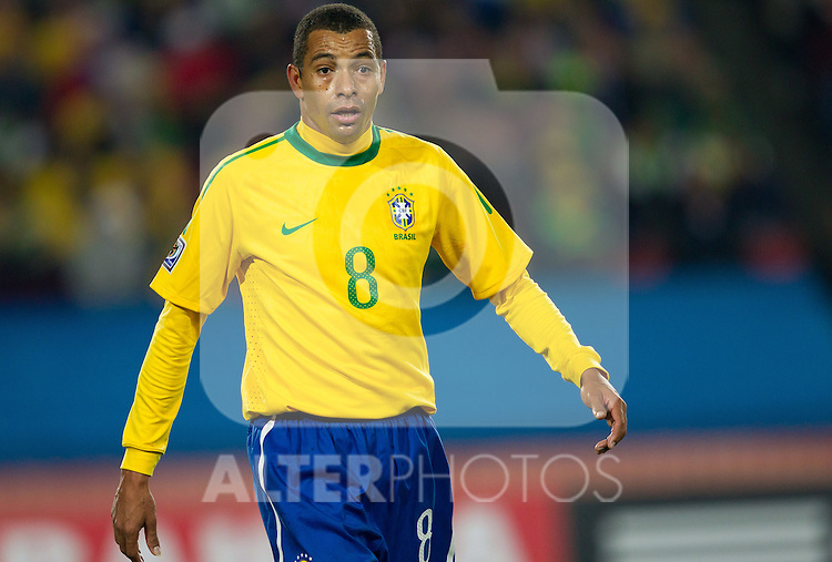 Gilberto Silva of Brazil during the 2010 FIFA World Cup South Africa. EXPA Pictures © 2010, PhotoCredit: EXPA/ Sportida/ Vid Ponikvar +++ Slovenia OUT +++