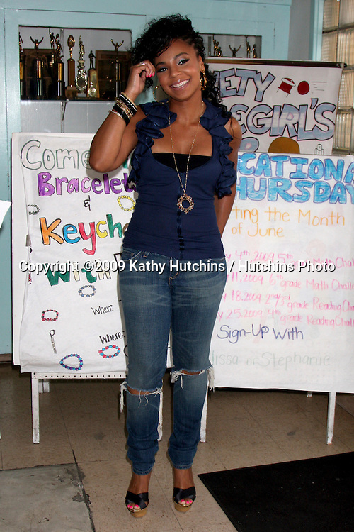 Ashanti arriving at  Boys & Girls Club of Los Angeles , CA on August 28, 2009.©2009 Kathy Hutchins / Hutchins Photo.