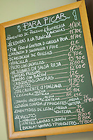 chalk board , restaurant Imprenta Casado , Leon spain castile and leon