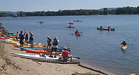 NWA Democrat-Gazette/FLIP PUTTHOFF<br />The trip takes a sandbar break Aug. 4 2017 on the Minnesota side of the Mississippi River.