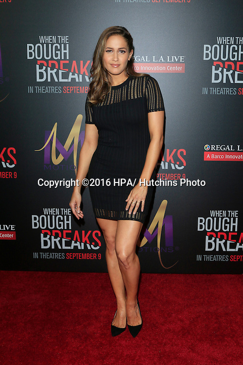 """LOS ANGELES - AUG 28:  Jaina Lee Ortiz at the """"When The Bough Breaks"""" Premiere at the Regal LA Live Stadium 14 on August 28, 2016 in Los Angeles, CA"""