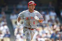 Ryan Freel of the Cincinnati Reds during a game against the Los Angeles Dodgers in a 2007 MLB season game at Dodger Stadium in Los Angeles, California. (Larry Goren/Four Seam Images)