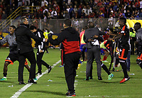PASTO -COLOMBIA, 03-06-2017: Jugadores del América de Cali celebran después de clasificar a a la semifinal de la Liga en partido de vuelta con  Deportivo Pasto por los cuadrangulares finales finales de la Liga Águila I 2016 jugado en el estadio La Libertad de Pasto. / Players of America de Cali celebrate after clasifiying to the semifinals of the League in the second leg match against Deportivo Pasto for the final quadrangulars of Aguila League I 2017 played at La Libertad stadium in Pasto. Photo: VizzorImage / Leonardo Castro / Cont