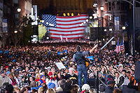 05 Nov 2012, Des Moines, Iowa, USA --- Musician Bruce Springsteen performs at a campaign rally for President Barack Obama in Des Moines, Iowa. --- Image by © Brooks Kraft/Corbis