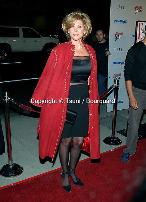 Christine Baranski arriving at the Chicago Premiere at the Academy Of Motion Pictures in Los Angeles. December 10, 2002.