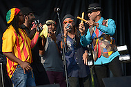 "Largo, MD - July 12, 2014: Grammy nominated band Third World performs at the 1st annual International Festival at the Largo Town Center in Largo, MD, July 12, 2014. The group is best known for its charting hits ""Now The We Found Love"" and ""Try Jah Love."" (Photo by Don Baxter/Media Images International)"