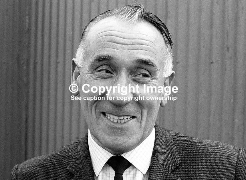 Jimmy Todd, manager, Crusaders FC, Belfast, N Ireland, UK, 197909000356a<br />