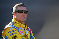 Nov. 7, 2008; Avondale, AZ, USA; NASCAR Sprint Cup Series driver Bobby Labonte during qualifying for the Checker Auto Parts 500 at Phoenix International Raceway. Mandatory Credit: Mark J. Rebilas-