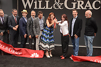 "Sean Hayes, Debra Messing, Megan Mullally, Eric McCormack, James Burrows<br /> at the ""Will & Grace"" Start of Production Kick Off Event, Universal Studios, Universal City, CA 08-02-17<br /> David Edwards/DailyCeleb.com 818-249-4998"