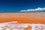 Salt production on the remote island of Kiritimati in Kiribati