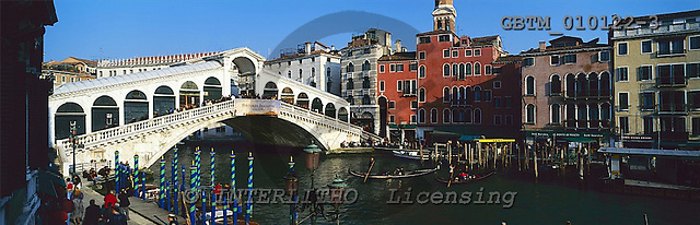Tom Mackie, LANDSCAPES, panoramic, photos, Rialto Bridge & Grand Canal, Venice, Italy, GBTM010122-3,#L#