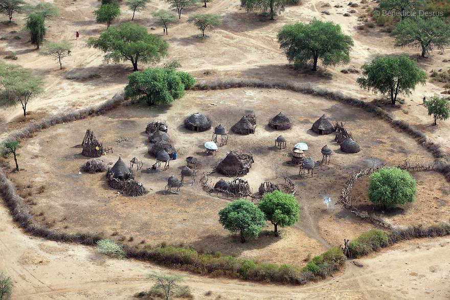 11 december 2010 - Riwoto, Eastern Equatoria, South Sudan - Aerial view of Riwoto, Eastern Equatoria, South Sudan. Photo credit: Benedicte Desrus