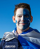 2nd February 2019, Murrayfield Stadium, Edinburgh, Scotland; Guinness Six Nations Rugby Championship, Scotland versus Italy; A scottish fan with his face painted