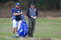 Eddie Pepperell (ENG) on the 2nd fairway during Round 3 of the Sky Sports British Masters at Walton Heath Golf Club in Tadworth, Surrey, England on Saturday 13th Oct 2018.<br /> Picture:  Thos Caffrey | Golffile